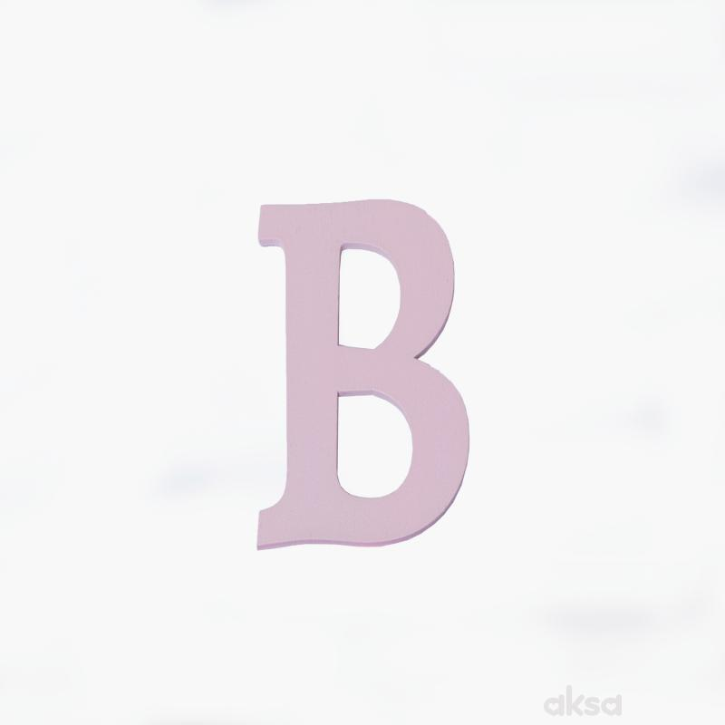 Drveno slovo B roze
