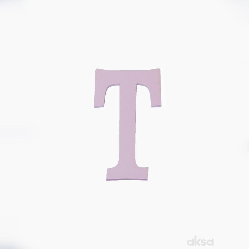 Drveno slovo T roze