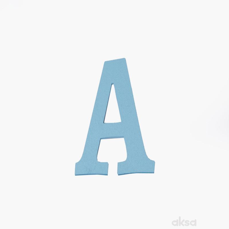Drveno slovo A plavo