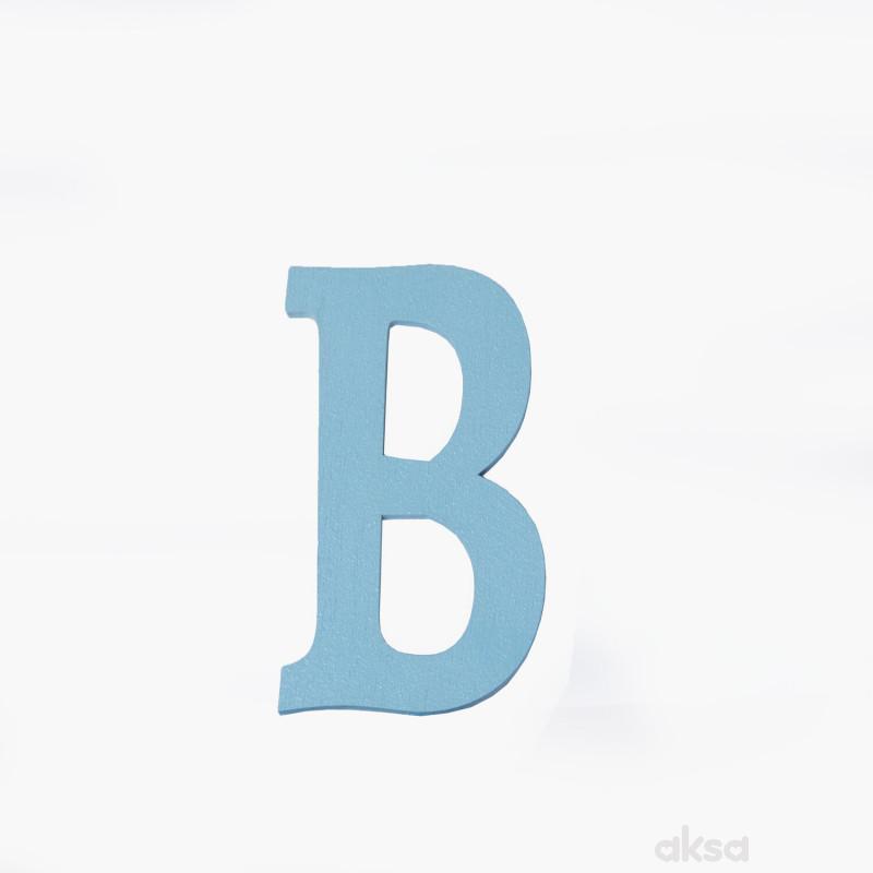 Drveno slovo B plavo