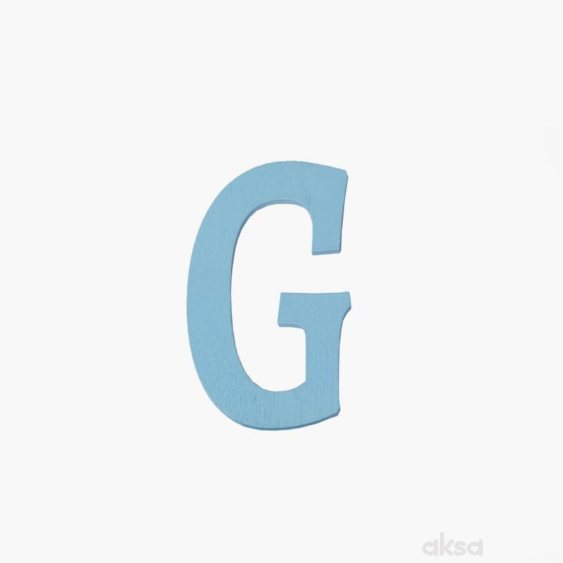 Drveno slovo G plavo