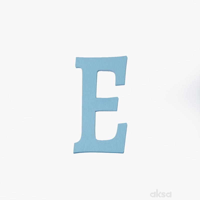 Drveno slovo E plavo