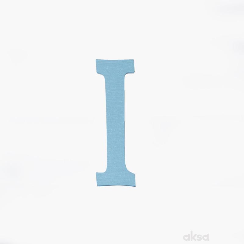 Drveno slovo I plavo