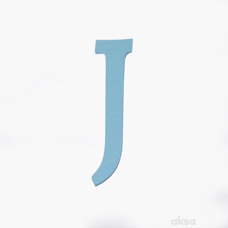 Drveno slovo J plavo