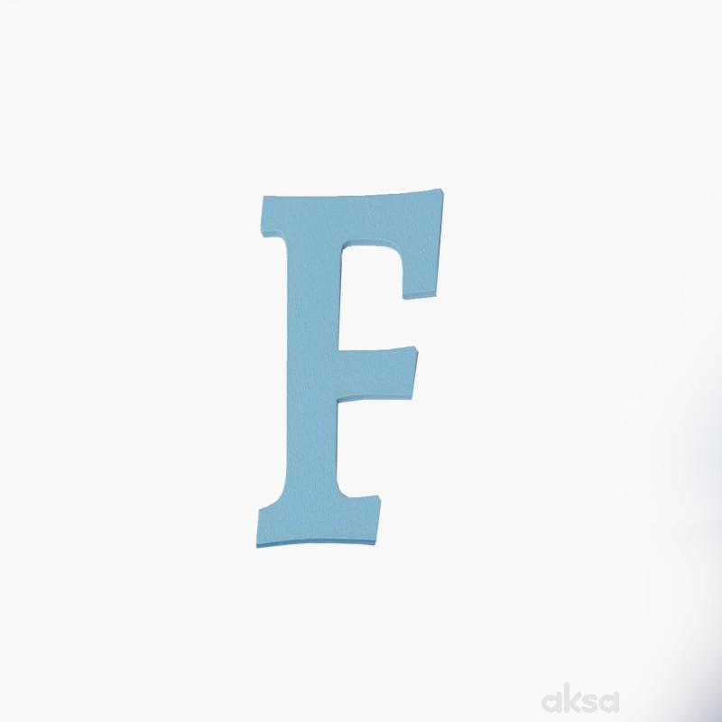 Drveno slovo F plavo