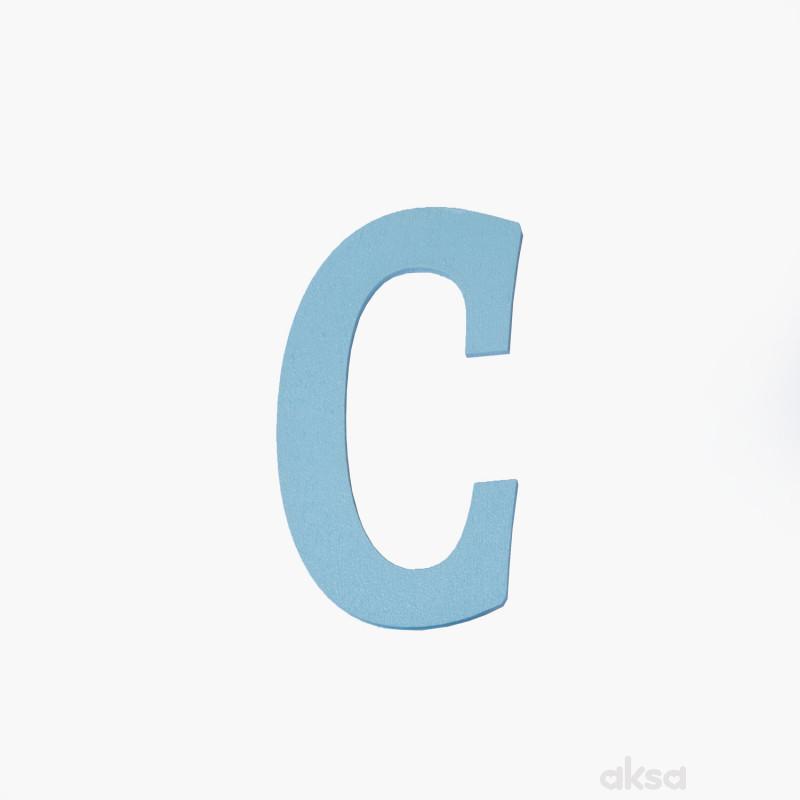 Drveno slovo C plavo