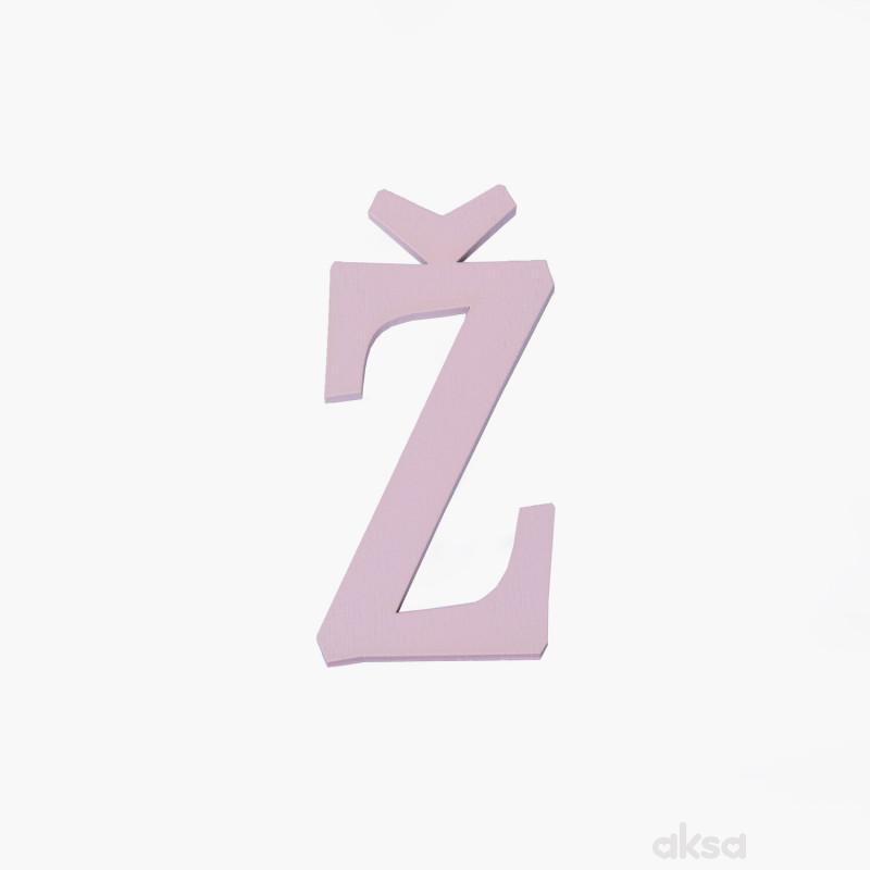 Drveno slovo Ž roze
