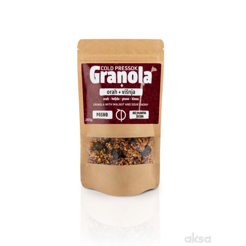 Cold pressok granola orah višnja 260g