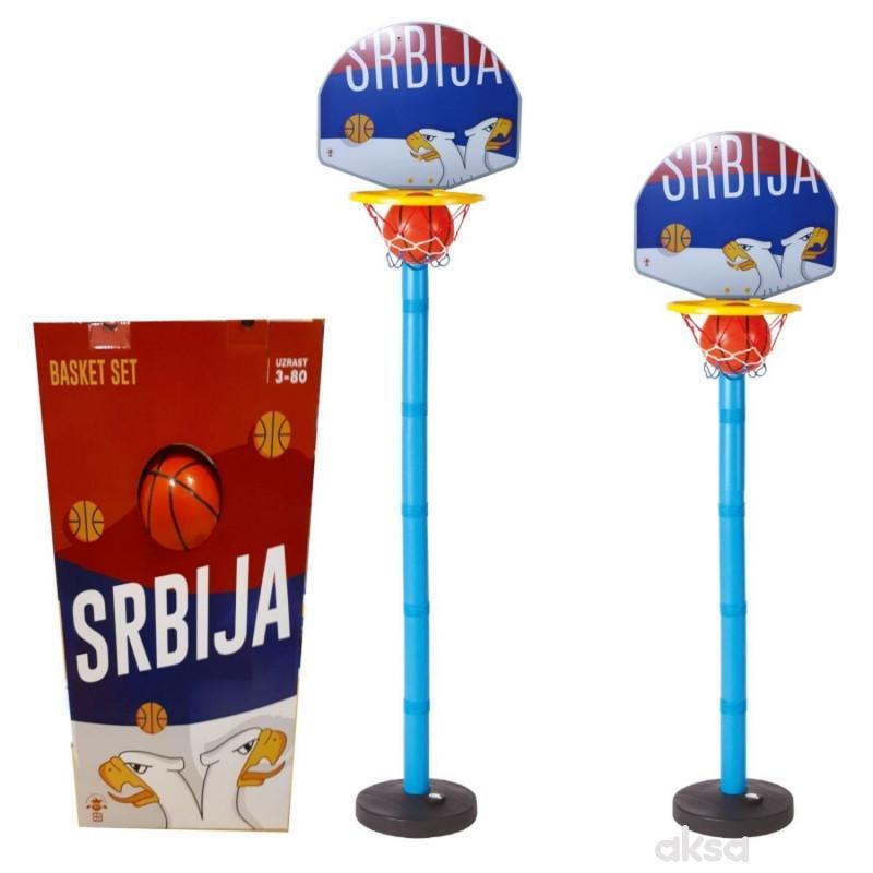 Kosarkaški set Srbija sa stalkom - visina do 140cm