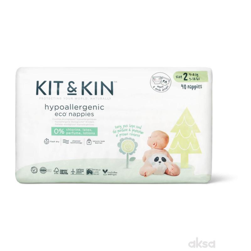 Kit & Kin pelene veličina 2  4-8 kg 40 kom