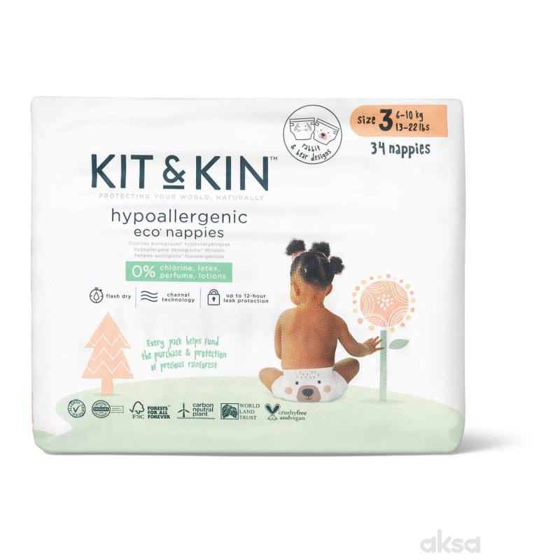 Kit & Kin pelene veličina 3  6-10kg 34 kom