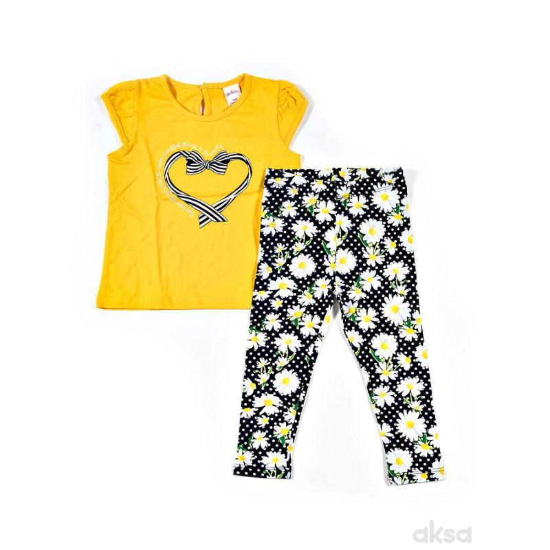 Lillo&Pippo komplet (majica kr, helanke),devojčice