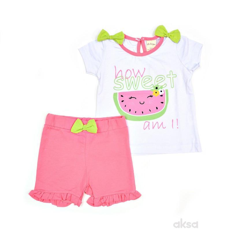Lillo&Pippo komplet (majica kr, suknja), devojčice
