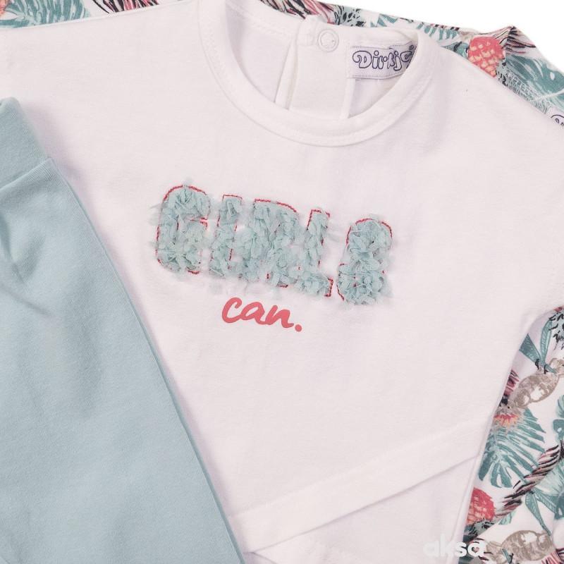 Dirkje komplet (duks jakna,majica,d. deo)devojčice