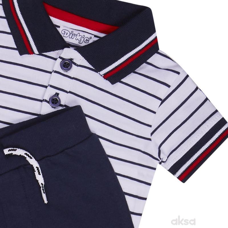 Dirkje komplet (polo majica kr, d. deo), dečaci