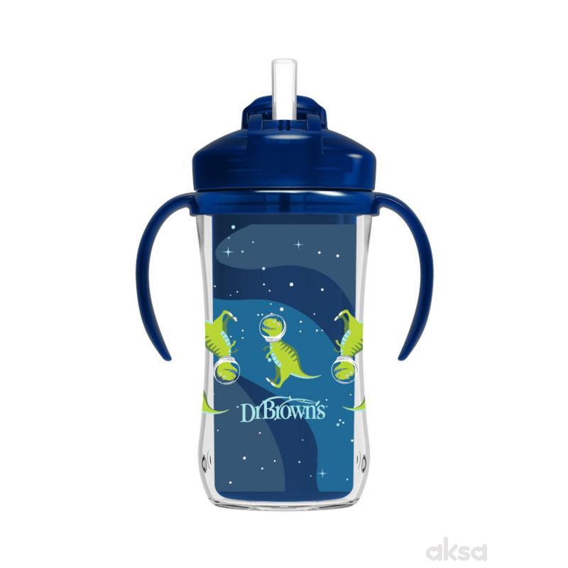 Dr.Browns Trening čaša sa slamčicom 300ml, plava