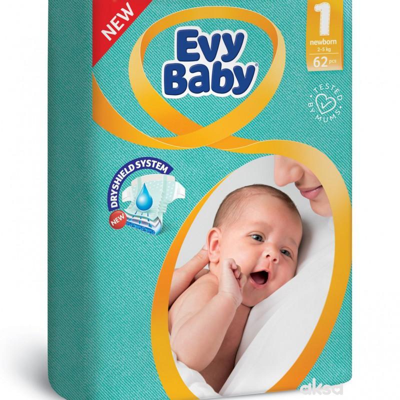 Evy baby pelene 1 newborn twinpack 2-5kg 62 kom