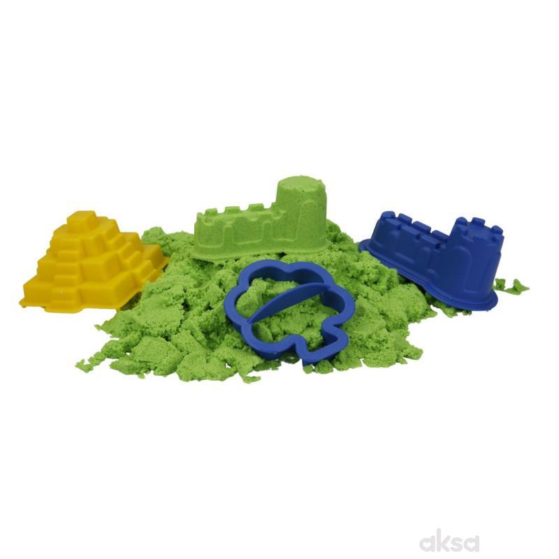 Sunman kinetički pesak 500 gr. zelena boja