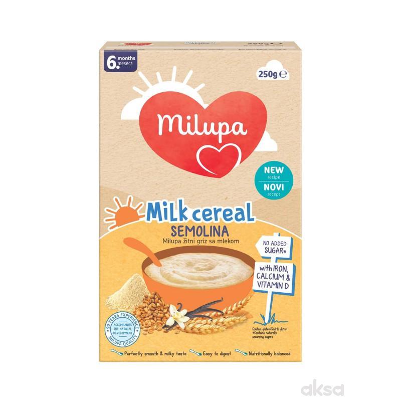 Milupa mlečna instant kaša griz 250g