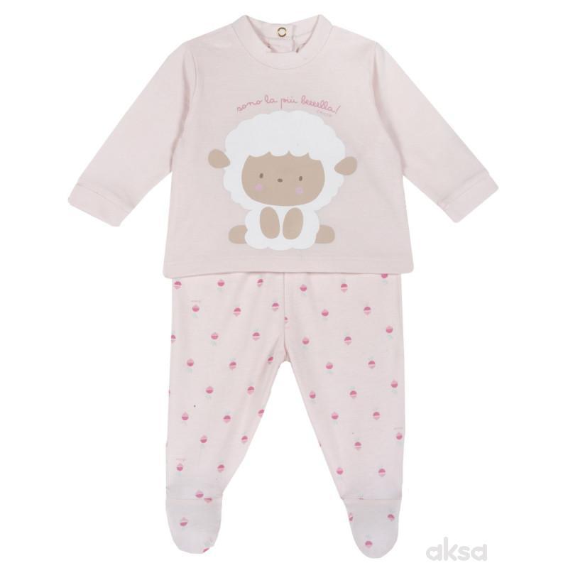 Chicco komplet 2/1 (majica dr,pantalone),devojčice