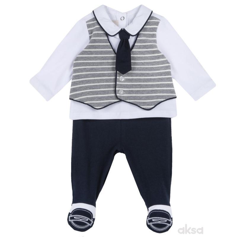 Chicco komplet 2/1 (majica dr, pantalone), dečaci