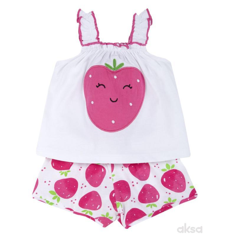Chicco komplet 2/1(majica bretele,šorts),devojčice