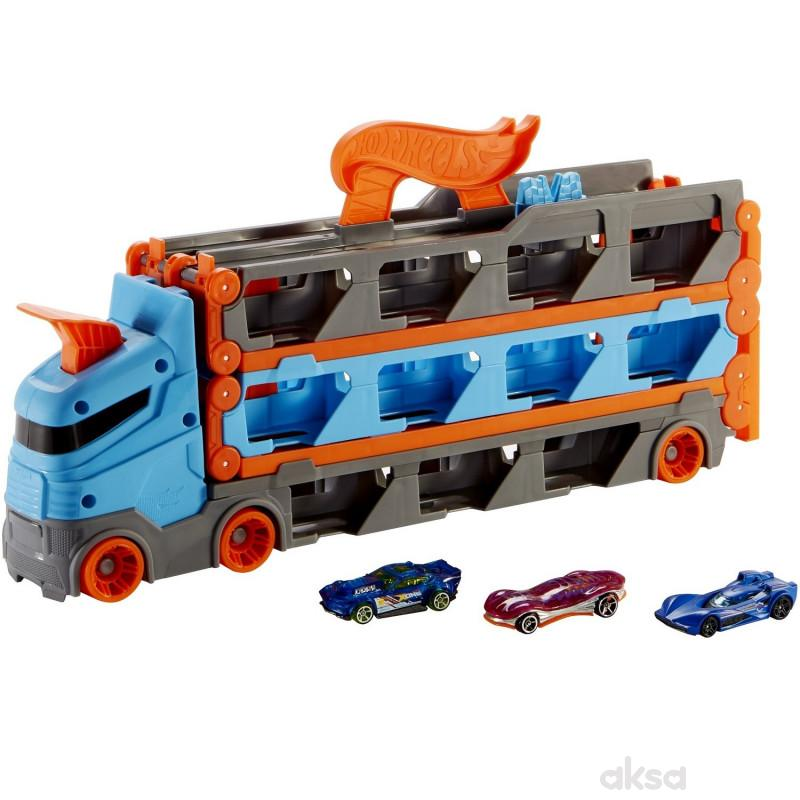 Hot Wheels mega transporter sa stazom