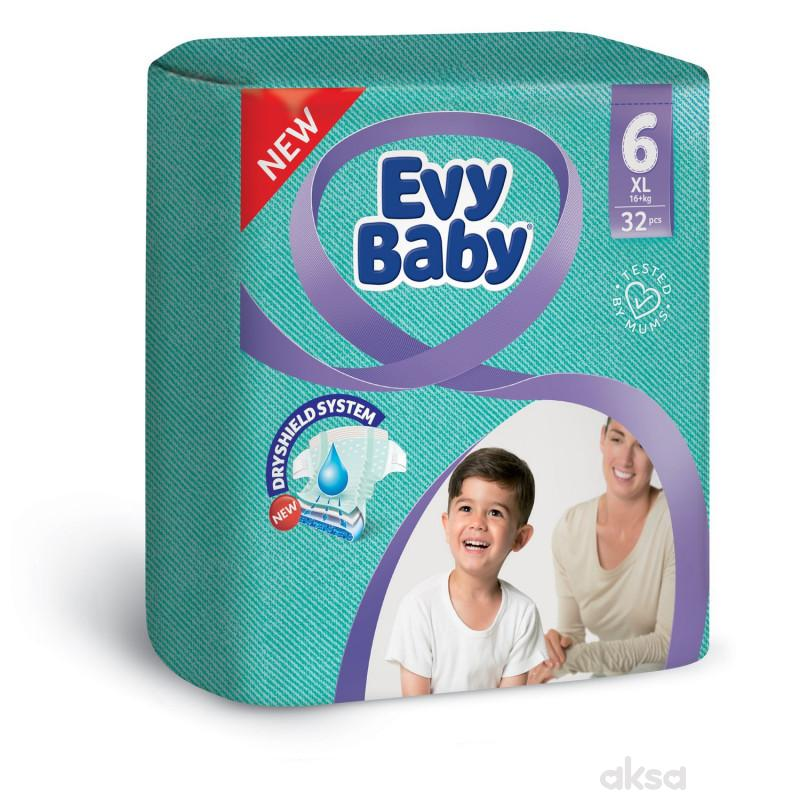 Evy baby pelene 6 XL twinpack 15-30kg 32kom