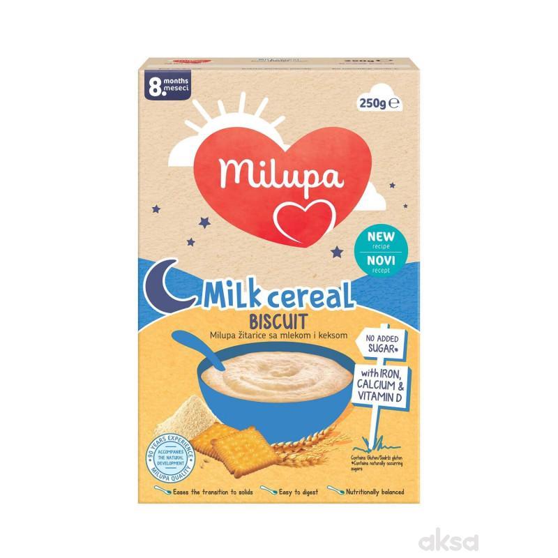 Milupa mlečna instant kaša keks 250g