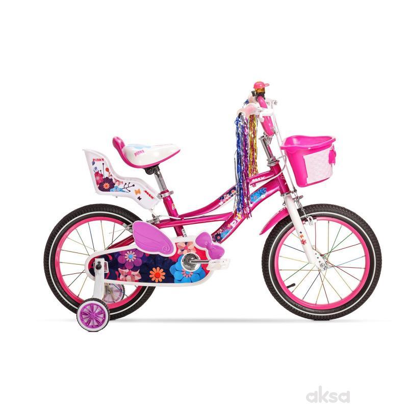 Bicikl devojcice MAX PINKY 16