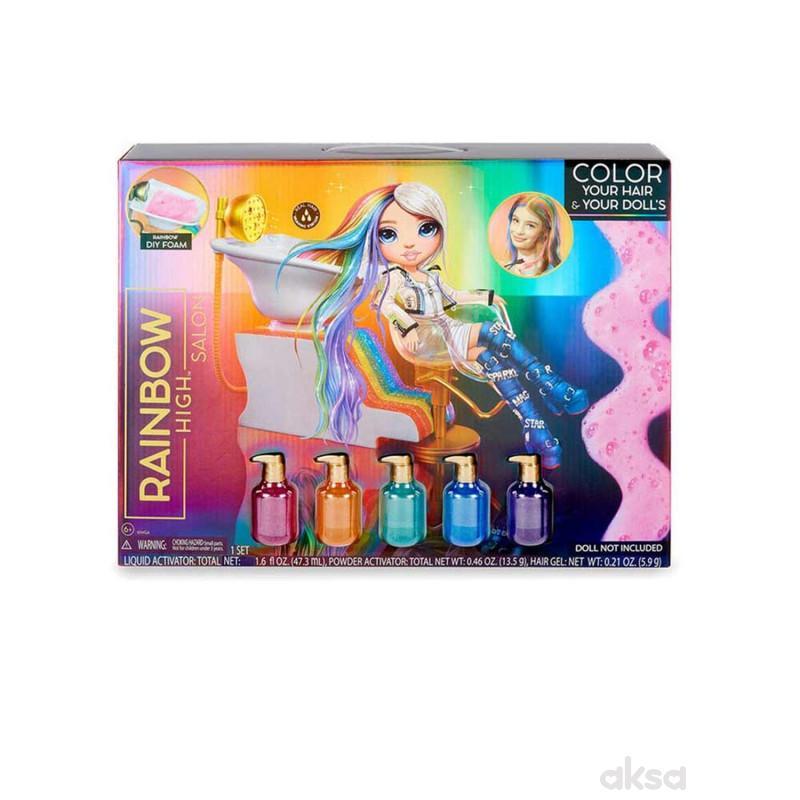 Rainbow high salon set
