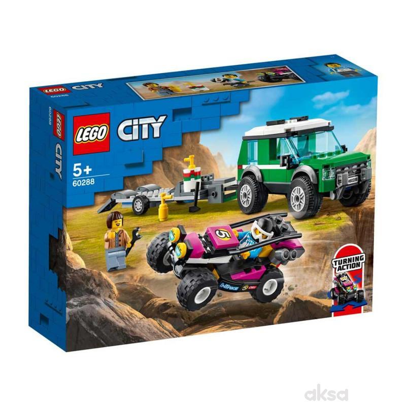 Lego City race buggy transporter