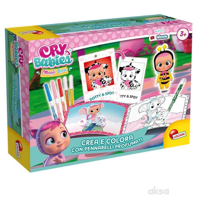 Cry babies bojenje mirišljivim markerima set