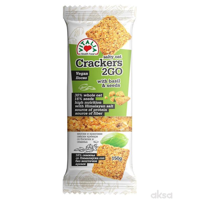Vitalia Ovseni kreker-beli luk i bosiljak 150g