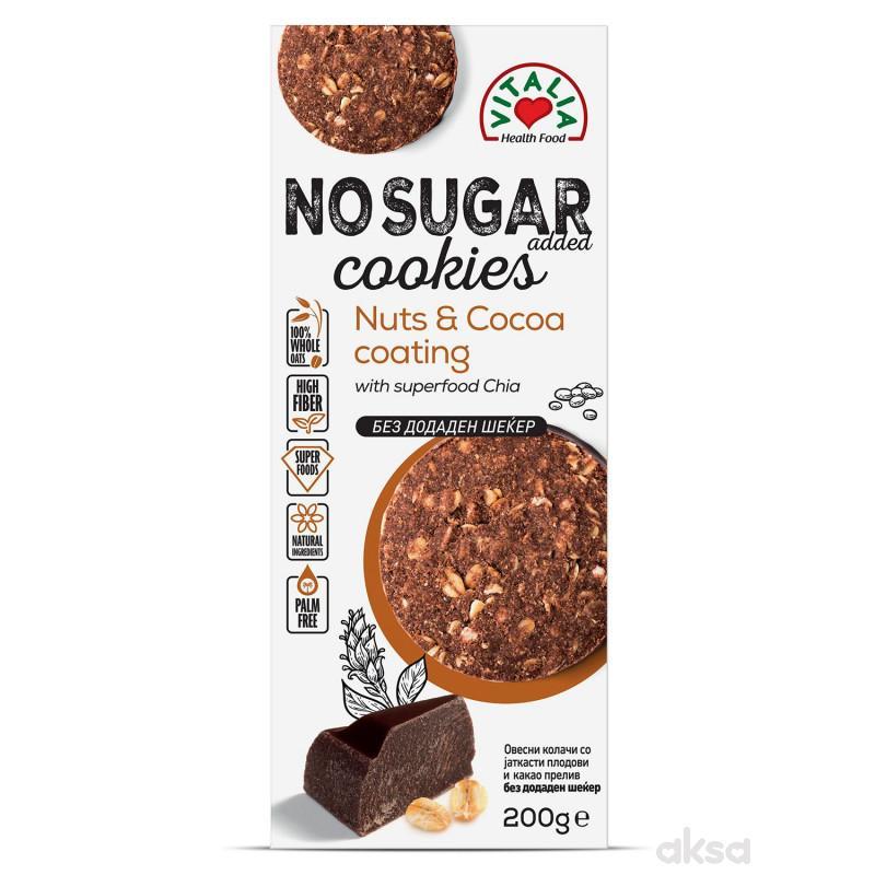 Vitalia Super kolačići-lešnik, preliv od kakaa