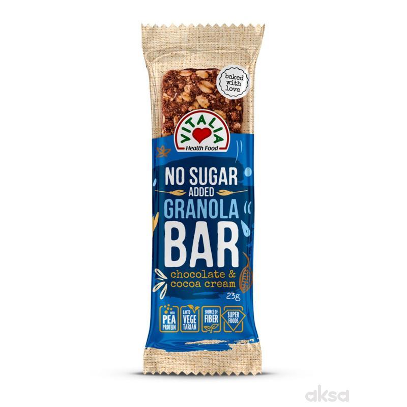 Vitalia Granola bar čoko&kakao krem preliv 23g