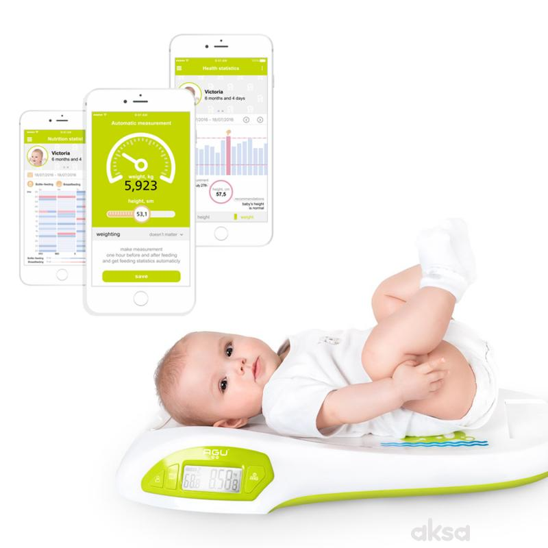 Agu Baby Vaga digitalna sa stadiometrom Wally