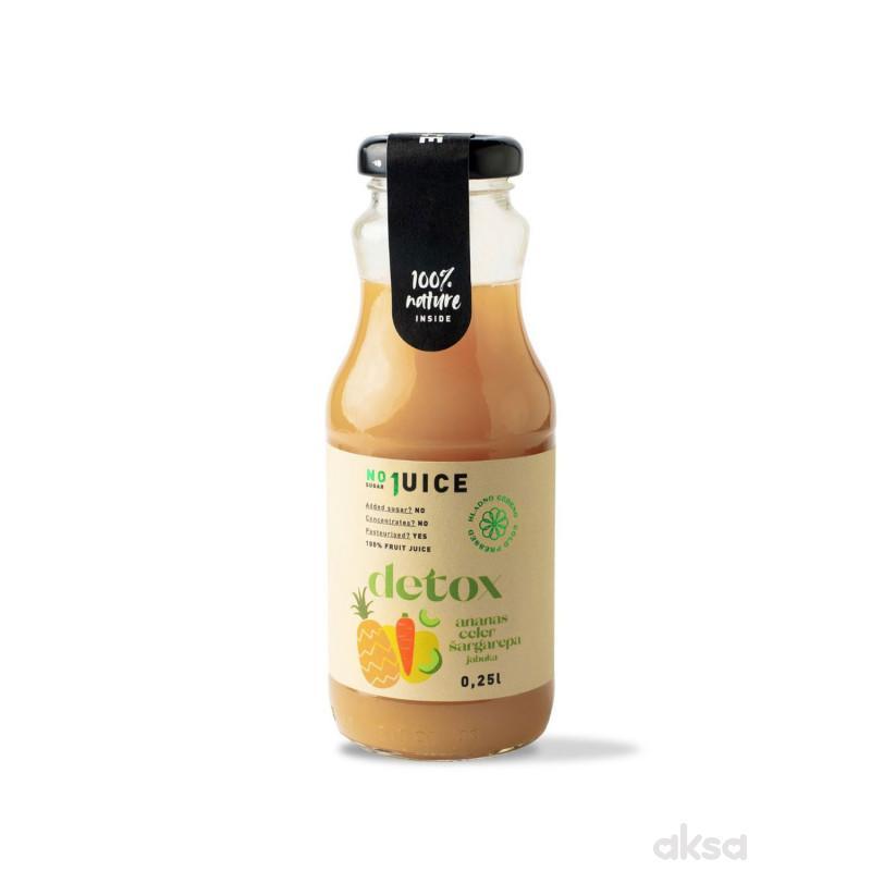 NO1 JUICE Detox mix 0,25l (anan, šarg, celer, jab)