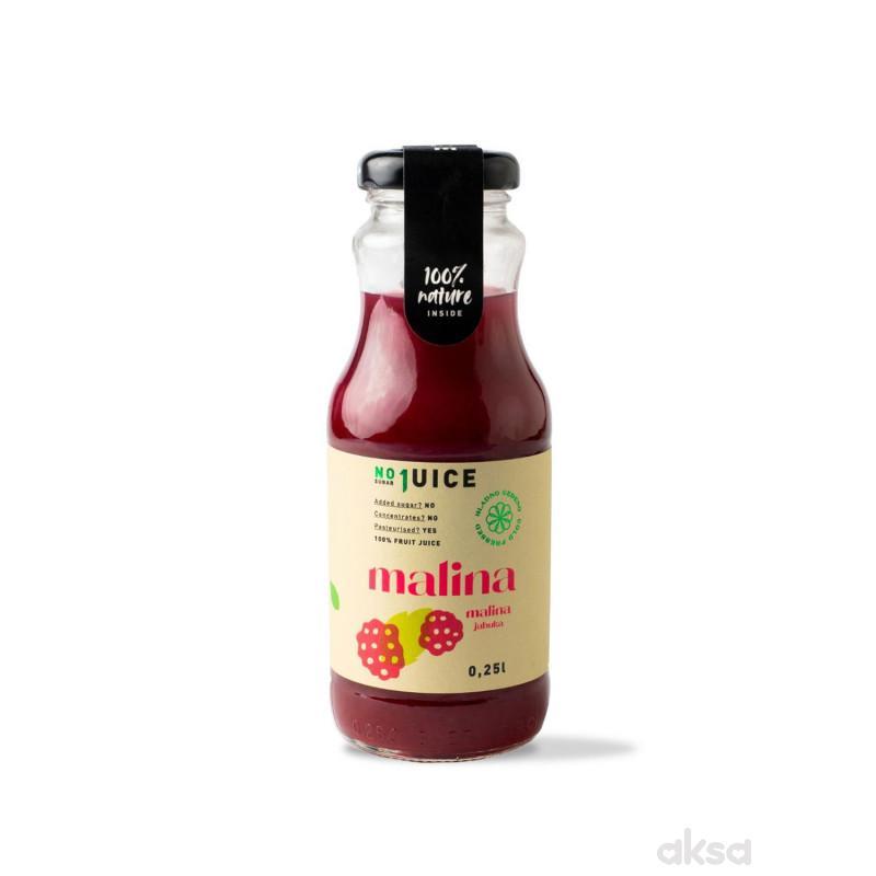 NO1 JUICE Malina 0,25 l (30% mali, 70% jabu)
