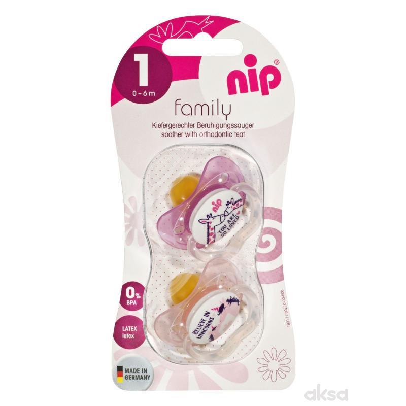 Nip Family kaučuk laža 0-6 2 kom, devojčice