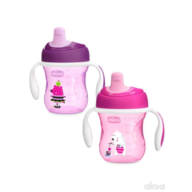 Chicco trening čaša, 6m+, roze