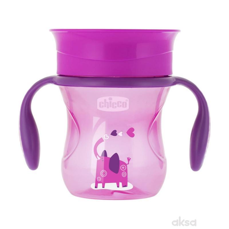 Chicco no spill čaša Perfect 360 stepeni,12+,roze