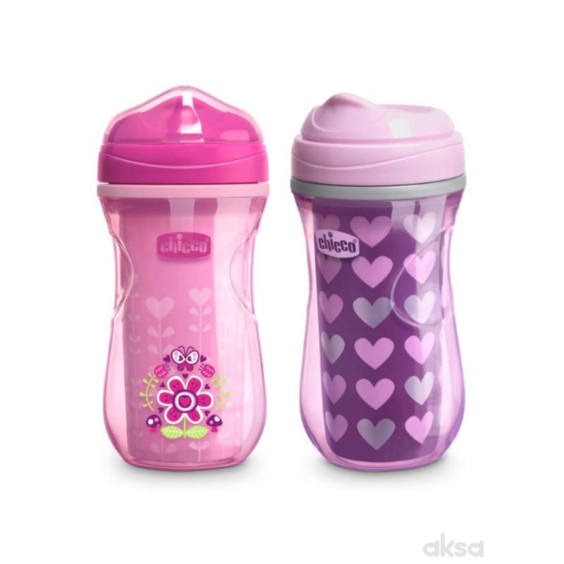 Chicco čaša 12m+, active cup, roze