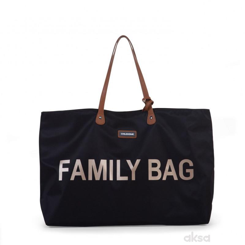 Child home Family Bag, Torba crno zlatna