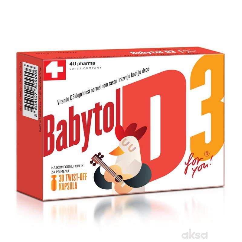 4UPharma Babytol D3 twist off, 30 kapsula