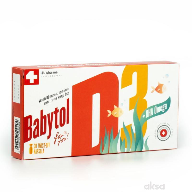4U Pharma Babytol D3+DHAOmega twist off,30 kapsula