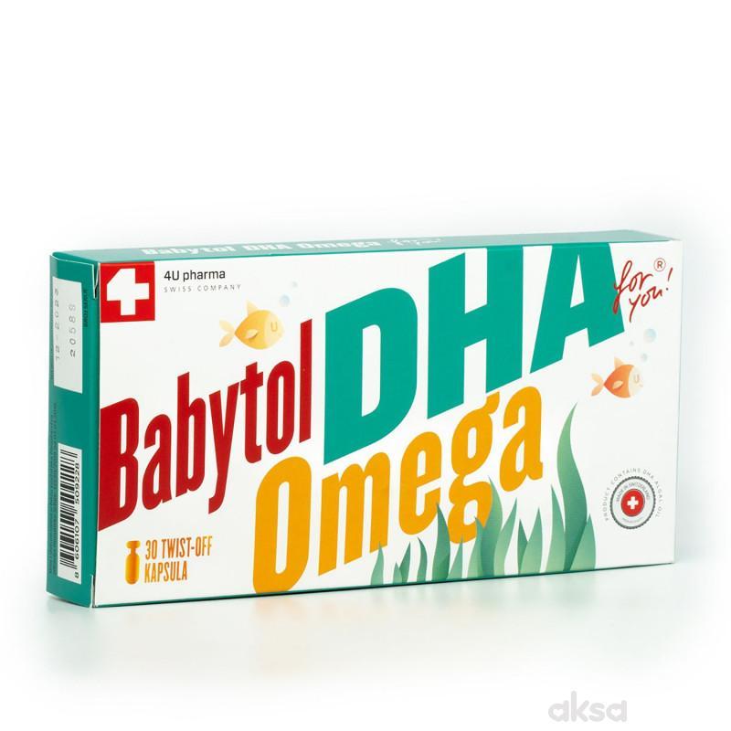 4U Pharma Babytol DHA Omega twist off, 30 kapsula