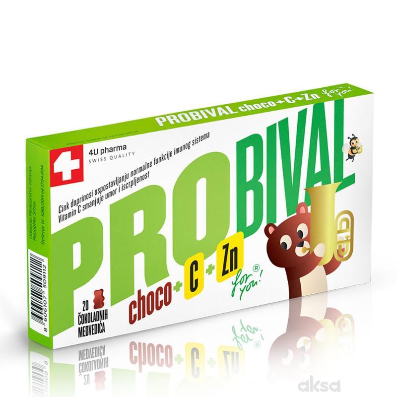 4U Pharma Probival Choco + C + Zn