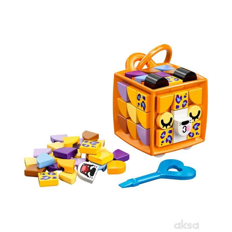 Lego Dots Bag Tag Leopard