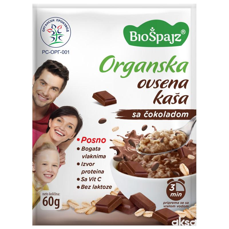 BioŠpajz Ovsena kaša Čokolada 60g BIO